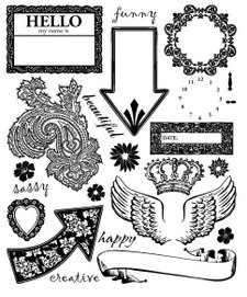 paper salon stamps